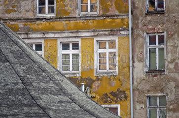 Marode Hausfassade in Stralsund