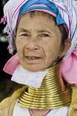 Myanmar  Bagan  Padaung woman