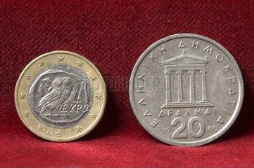 Euro  griechische Drachme