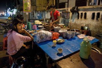 Myanmar  Tangoo  local restaurant