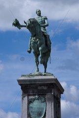 Reiterstandbild Wilhelm II am Place Guillaume II  Stadt Luxemburg  Luxemburg  Europa
