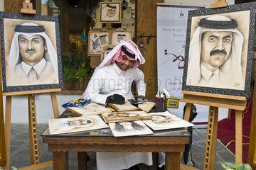 Qatar  Doha  New souk  painter