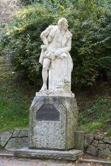 Skulptur William Shakespeare im Park an der Ilm  Weimar  Thueringen  Deutschland  Europa