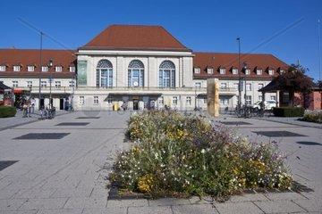 Hauptbahnhof der Stadt Weimar  Weimar  Thueringen  Deutschland  Europa