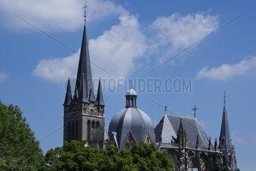 Aachener Dom. Kaiserdom  UNESCO Weltkulturerbe  Aachen  Rheinland  Nordrhein-Westfalen  Deutschland  Europa