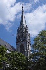 Turm des Aachener Domes  Aachen  Rheinland  Nordrhein Westfalen  Deutschland  Europa
