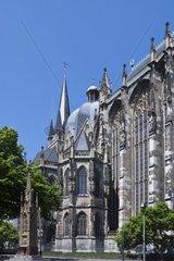Aachener Dom Kaiserdom  UNESCO Weltkulturerbe  Aachen  Rheinland  Nordrhein Westfalen  Deutschland  Europa