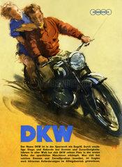 DKW Motorrad-Werbung  1952