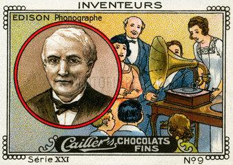 Erfinder Thomas Alva Edison  Phonograph