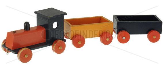 Holzeisenbahn  Spielzeug  um 1966