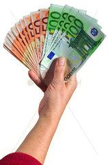 Euroscheine  Hand