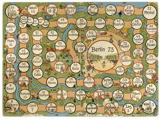Deutschlandreise  Wuerfelspiel  um 1910