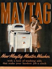 Werbung fuer Waschmaschine der Firma Maytag  USA 1938