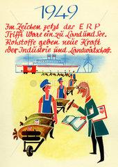 ERP Wirtschaftsprogramm  Wiederaufbauprogramm fuer Europa  1949