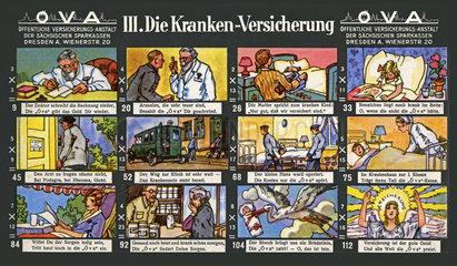 Krankenversicherung  lustiges Werbespiel  1929