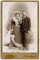 Hochzeitspaar  USA  1898