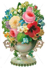 Blumenstrauss  Blumenvase  1863