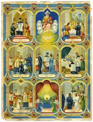 Die sieben heiligen Sakramente  Wandbild  1880