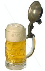 historischer Bierkrug  Bier