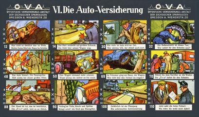 Autoversicherung  lustiges Werbespiel  1929