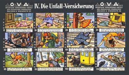 Unfallversicherung  lustiges Werbespiel  1929