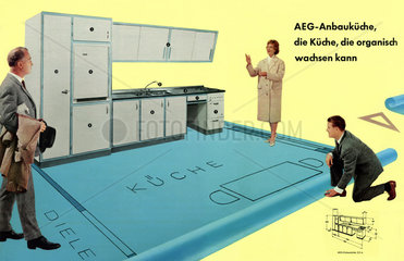 AEG Einbaukueche  Kuechenplanung  1957