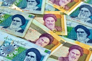 iranische Banknoten mit Portrait Ayatollah Khomeini 2009