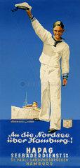 HAPAG Schiffe bringen Urlauber zu den Nordseeinseln  1935