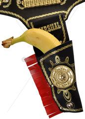 Banane im Holster