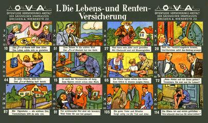 Lebensversicherung  Rentenversicherung  Werbespiel  1929