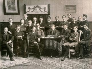 junge angehende Lehrer in der Ausbildung  1913  Bayern