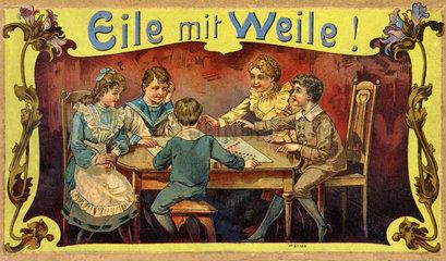 altes Gesellschaftsspiel Eile mit Weile  1907