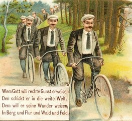 Radfahrer beim Ausflug 1898