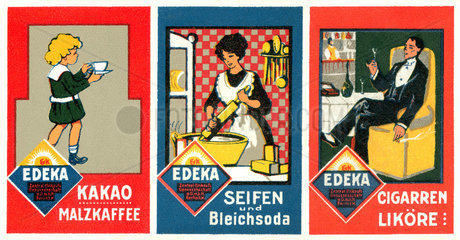 Werbung fuer Edeka Produkte  um 1913