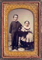 Geschwister  um 1870