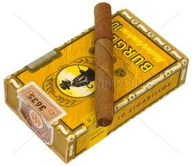 alte Zigarillo-Schachtel  Burger  1957