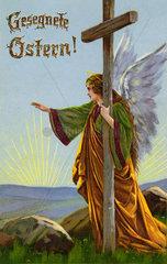 Engel  Gesegnete Ostern  Osterkarte  1910