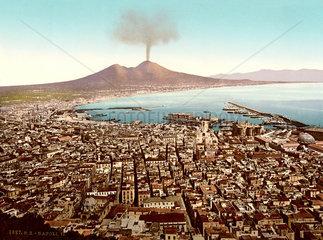 Neapel  Vesuv  um 1899
