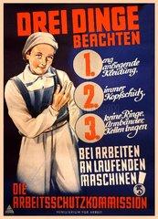 DDR Arbeitsschutzposter