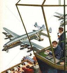 amerikanische Fluglotsen um 1956
