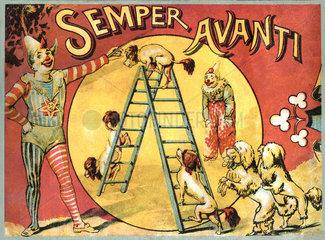 Zirkus  altes Gesellschaftsspiel  um 1903
