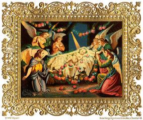 Jesuskind in der Krippe  um 1880