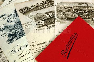 alte Rechnungen  1904 bis 1910