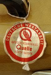 Deutsche Wertarbeit  Qualitaetssiegel  um 1956