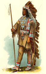 Haeuptling der Sioux  1909