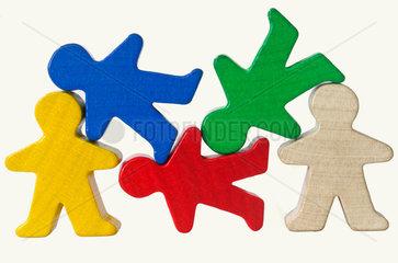 Spielfiguren  Symbol Solidaritaet