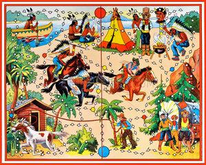 Cowboy und Indianer  Gesellschaftsspiel  1960
