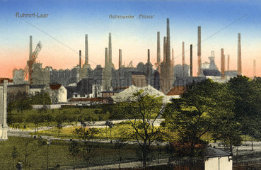 Huettenwerke Phoenix in Duisburg  um 1924