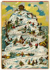Wuerfelspiel Bergsteigen  um 1910