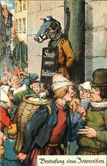 Mann am Pranger  um 1550